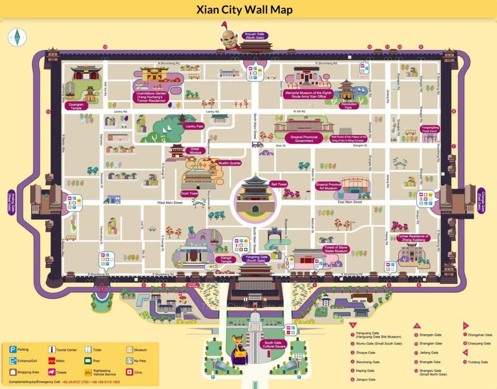 xiancitywallmap